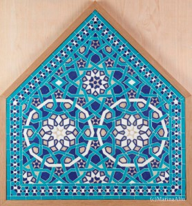 Zillij - final piece. Copy of the Yazd Jame mosque panel by Marina Alin